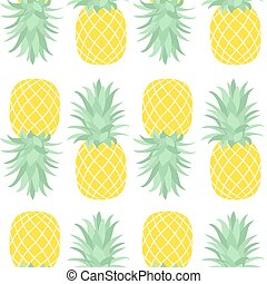 Seamless pattern of pineapple