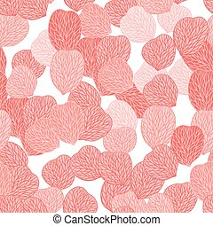 Seamless pattern of pink flower petals. Vector illustranion