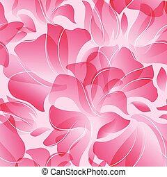 Seamless Pattern of pink flower petals