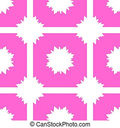 Seamless pattern of pink silhouettes of flowers on a white background
