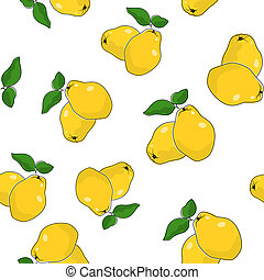 Seamless Pattern of Quince - Seamless Pattern of Quince ,...