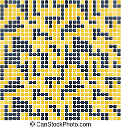 Seamless pattern of randomly connected squares