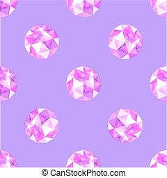 seamless pattern of realistic purple amethyst gems. Vector illustration.
