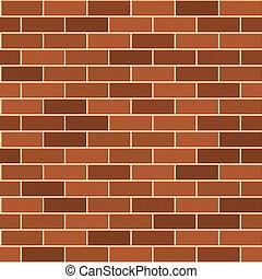 Seamless Pattern of Red Brick wirh Light Seam. Vector...