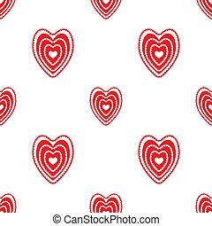 seamless pattern of red hearts on a white background. Valentine s day. Vector image