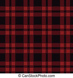 Seamless pattern of red tartan.