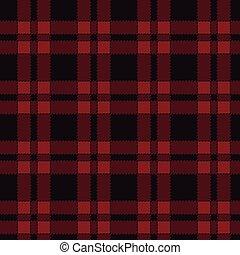 Seamless pattern of red tartan.