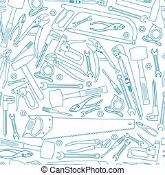 Seamless pattern of repair tools icons
