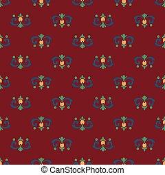 Seamless pattern of royal lilies