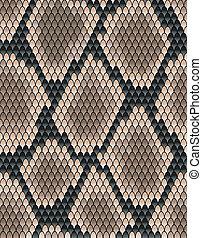 Seamless pattern of snake skin
