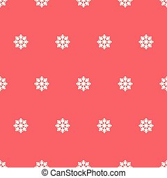 Seamless pattern of snowflakes.