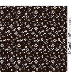 Seamless pattern of snowflakes. Christmas Snowflakes Background. Seamless Repeating Pattern