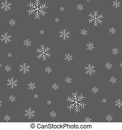 Seamless pattern of snowflakes on a black background