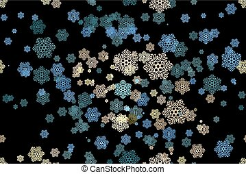 Seamless pattern of snowflakes on a