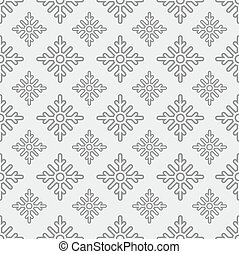 Seamless pattern of snowflakes on a gray background