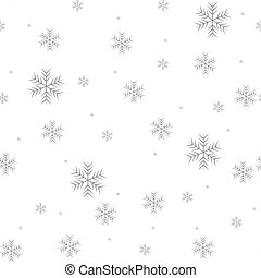 Seamless pattern of snowflakes on a white background