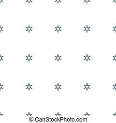 Seamless pattern of snowflakes