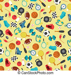 Seamless pattern of sport icons.