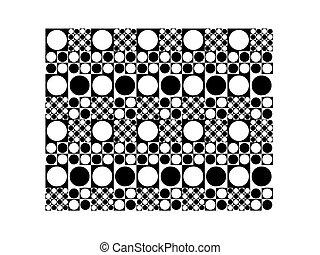 Seamless pattern of spots 70's styl