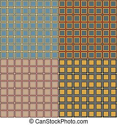 Seamless pattern of squares