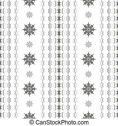 Seamless pattern of star-shaped elements and flowers