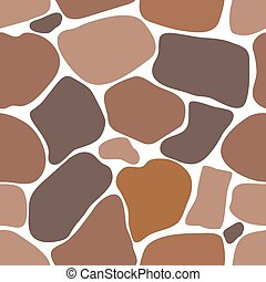 Seamless pattern of stones.