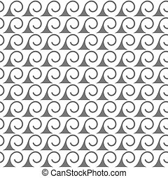 Seamless pattern of stylized waves