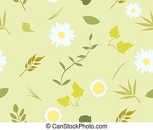Seamless pattern of summer leaves