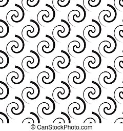 Seamless pattern of swirl ornament. Vector  abstract seamless pa