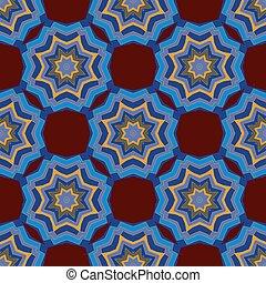 Seamless pattern of the mandala ornament