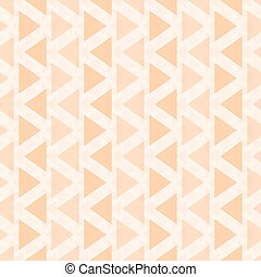 Seamless pattern of translucent triangles orange color