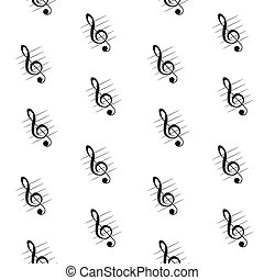 Seamless pattern of treble clef