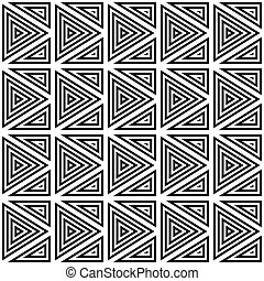 Seamless pattern of triangles.