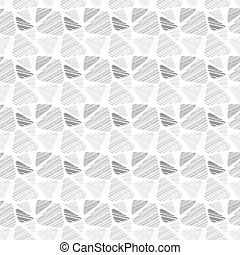 Seamless pattern of triangles in sketch style