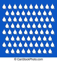 Seamless pattern of water drop symbol