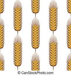 Seamless pattern of wheat ears