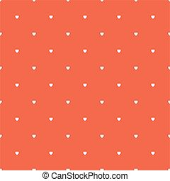 seamless pattern of white hearts on a red background