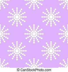 Seamless pattern of white snowflakes on a pink background