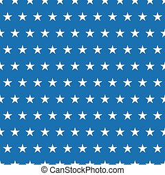 Seamless pattern of white stars on blue background
