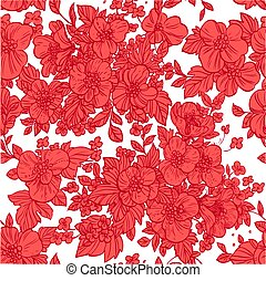 seamless pattern of wild flowers