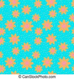 Seamless pattern of yellow flower