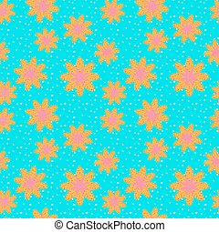 Seamless pattern of yellow flower