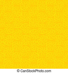 Seamless pattern of yellow pineapple