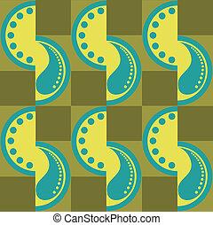 seamless pattern of yellow semi-circles