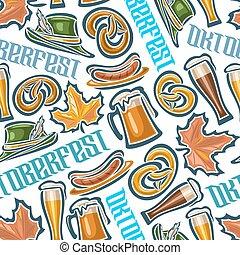 Seamless pattern oktoberfest - Vector background bavarian...