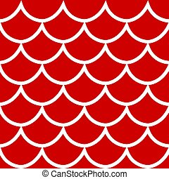 Seamless pattern on red background vector illustration