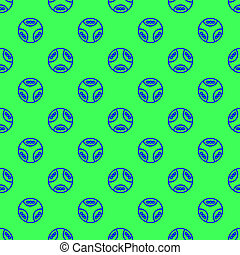 Seamless pattern on the green background
