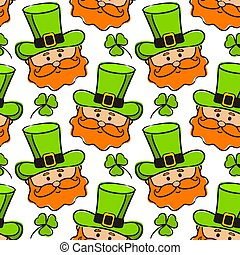 Seamless pattern on the theme of St. Patrick's Day.