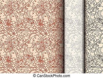 Seamless pattern on the theme of Valentine's Day