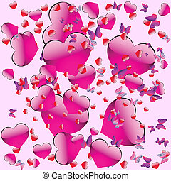 Seamless pattern on Valentine's Day